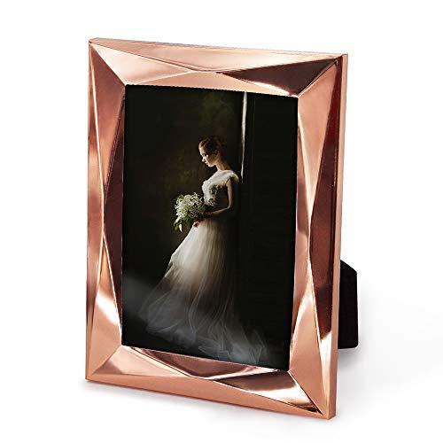 Afuly 13x18 Bilderrahmen Roségold Metall Fotorahmen Eleganten Portraitrahmen Familie Freund Geschenk