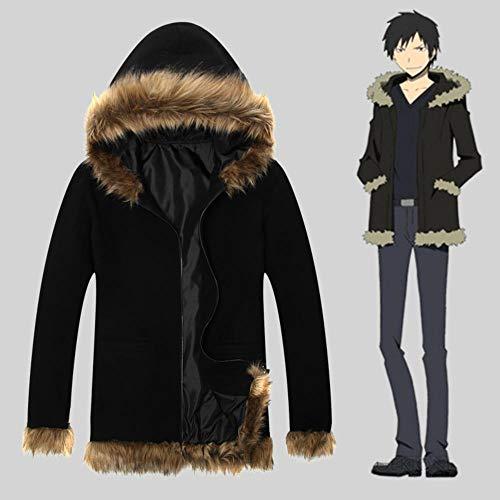 CHANGL Durarara 3way Standoff Kostüm Orihara Izaya Cosplay Mantel Anime Unisex Männer Hoodie Langarm Jacke T-Shirt Winter Warm