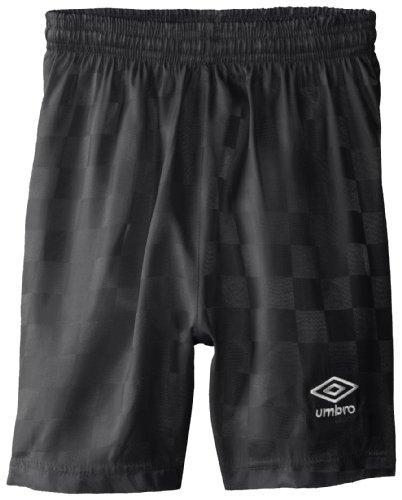 UMBRO Big Boys' Checkerboard Short, Black, Large