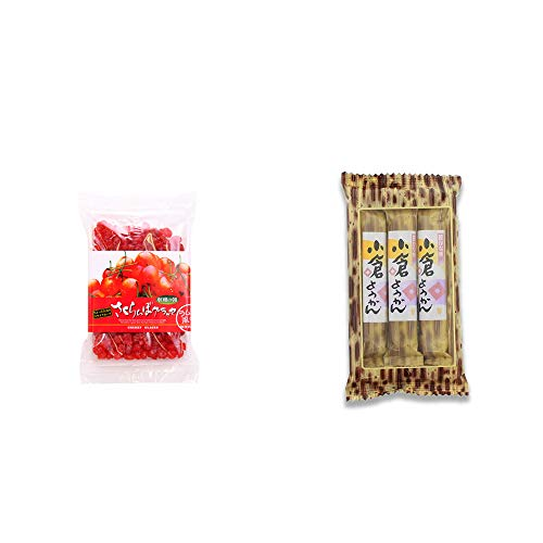 [2点セット] 収穫の朝 さくらんぼグラッセ ラム酒風味(180g)・スティックようかん[小倉](50g×3本)