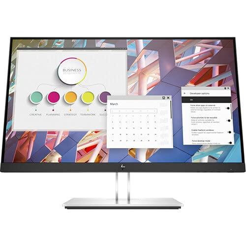 HP E24u G4 FHD USB-C Monitor br23.8', FHD 91920x1080, 250 nits, USB Type-C, DisplayPort1.2, USB-A(4), Language Selection, On-Screen Controls, Pivot Rotation, Single Power ON, Anti-Glare