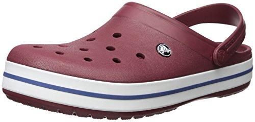 Crocs Damen Crocband U Pantoletten Clog, Rot (Garnet/Weiß), Gr.-37/38 EU
