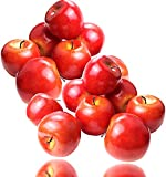 MotBach 12PCS Realistic Fake Apples, Artificial Fruits Lifelike Simulation Red Apples Fake Fruits for Home House Display Decoration Still Life Paintings Kitchen Decor Wedding Party Cabinet Ornament