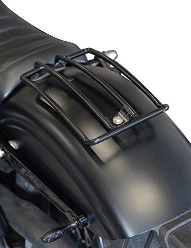 Porte-bagages noir Dyna Street Bob (2006-2017) et Wide Glide (2010-2017) Harley Davidson Buffalo Bag.
