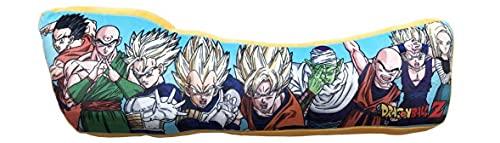 Cojín con logotipo de Dragon Ball Z – Cojín cómodo y agradable de apretar – Diseño: logo y personajes del animado – Regalo para Fan y apasionado – Calidad superior – Dimensiones: 60 x 30 cm