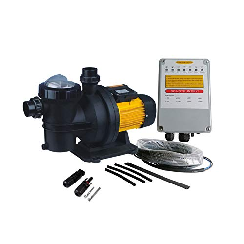 PWS 48V 3/4HP Solar Powered Swimming Pool Pump,Suitable for Salt Water, JP17-15/500