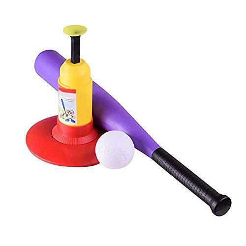 LGFB Katapult Kind Tennis Baseball Pitching Machines Outdoor-Sport-Spiel Automatische Ballmaschine startet Geben Sie einen Baseballschläger und 3pcs Ball