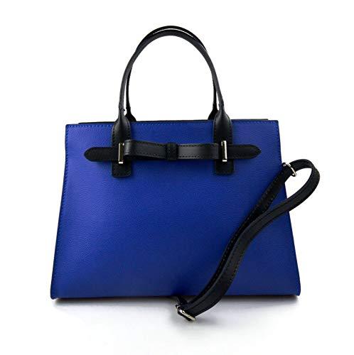 Damen handtasche ledertasche damen henkeltasche blau ledertasche schultertasche leder tasche henkeltasche umhängetasche made in Italy