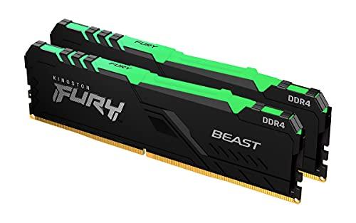 Kingston FURY Beast RGB 64GB (2x32GB) 3600MHz DDR4 CL18 Mémoire Kit pour PC Kit de 2 KF436C18BBAK2/64
