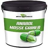 3000g / 3Kg Anabol Masse Gainer, Eiweißpulver Complex, Vanille, Erdbeere, Toffee Geschmack,...