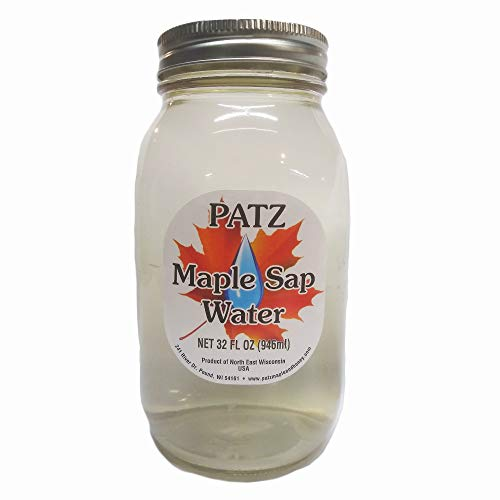 Patz Maple Sap Water 32 Ounce Jar Tapped from Wisconsin Maple Trees