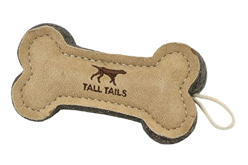 Tall Tails Bone Natural Leather 6' Dog Toy