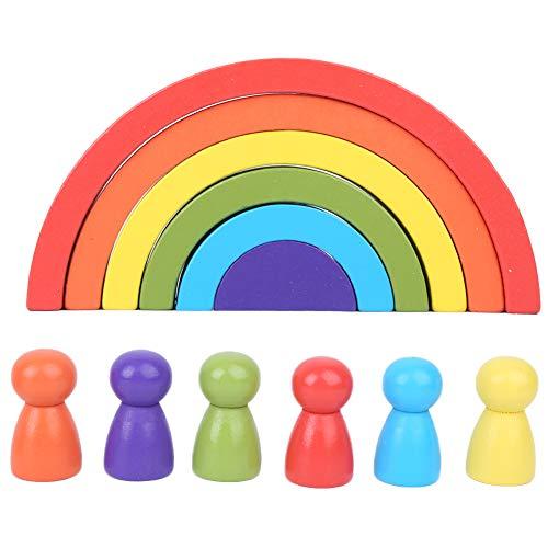 Holzspielzeug Regenbogen Holzbaby Spielzeug Vorschule Bunt Lernen Lernspielzeug...
