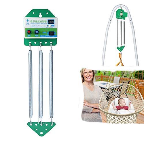 Altalena per bambini, con controllo elettrico a sospensione per culla, amaca per bambini, con timer regolabile, libera le mani, fino a 18 kg
