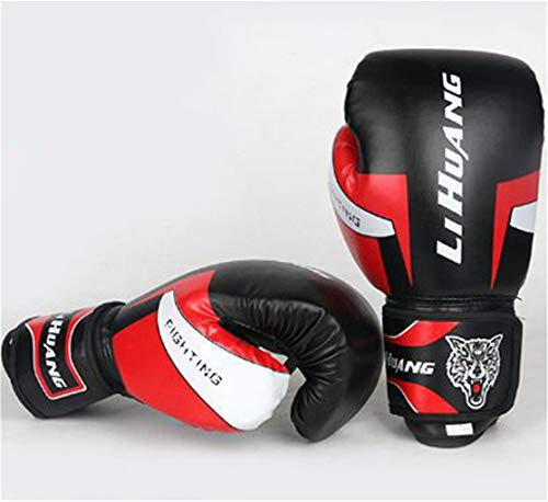 LBYB Boxing Gloves Punching Mitts,Artificial Leather, Perfect for Cage Fighting, Combat Sports, Punching Bag, Muay Thai & Kickboxing(Multi Colors) For Men And Women,Black