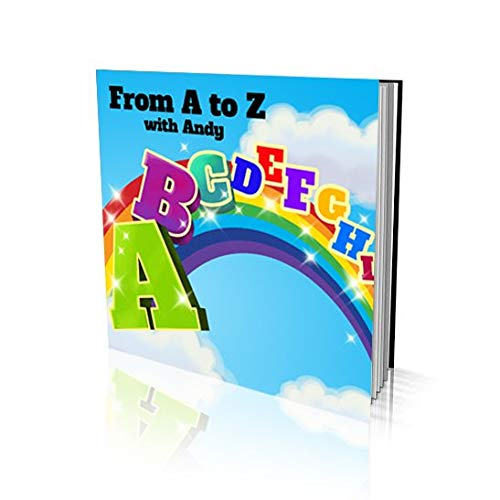 Personalized Story Book by Dinkleboo -'from A to Z' - for Kids Aged 2 to 8 Years Old - Makes Learning Alphabet Fun and Engaging - Printed on Smooth Satin Paper - Soft Cover (8'x 8')
