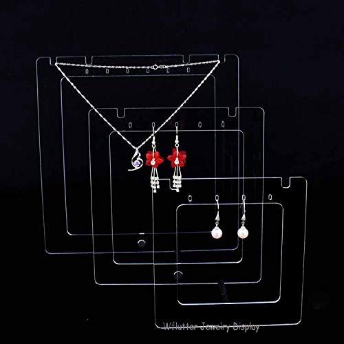 2020 YXWEI Collar de acrílico joyería del sostenedor del Soporte de exhibición del Pendiente de la Caja Mostrando Collar Pendiente del Caso del Organizador del Estante exhibición de la joyería
