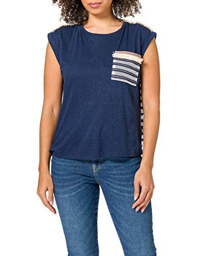 Desigual TS_Dublin Camiseta, Azul, L para Mujer