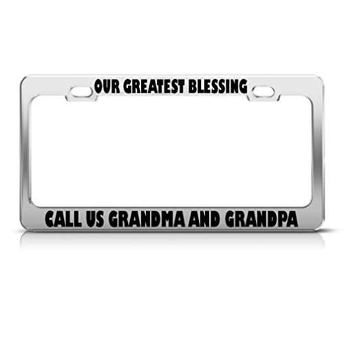 Onze zegeningen bellen ons oma opa licentie frame roestvrij metalen tag houder