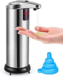 top rated Soap dispenser, non-contact automatic soap dispenser, improved waterproof base infrared movement … 2021