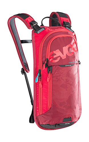 EVOC Sports GmbH Stage 3L Team + 2L Bladder Performance Rucksack, red/Ruby, 44 x 21 x 4 cm, 5 Liter