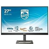 Philips 272E1GAEZ Monitor Gaming 27', 144 hz, 1ms, AMD Freesync Premium, Regolabile, Full HD, HDMI, Display Port, Casse Audio Integrate, Protezione Occhi, 350cd/m2, Mega Infinity Contrast, Vesa