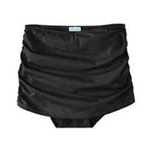 Assets Spanx 1710 Power Suit Ruched Swim Skirtini Skirt Suit Bottom (Small) Black
