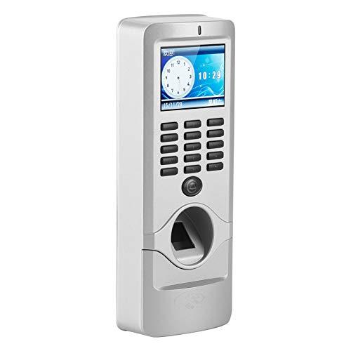 Pantalla TFT a Color ABS Relojes de Tiempo Sistema de Entrada en la Puerta Control de Acceso por Huella Digital, para Oficina, para Registro de empleados
