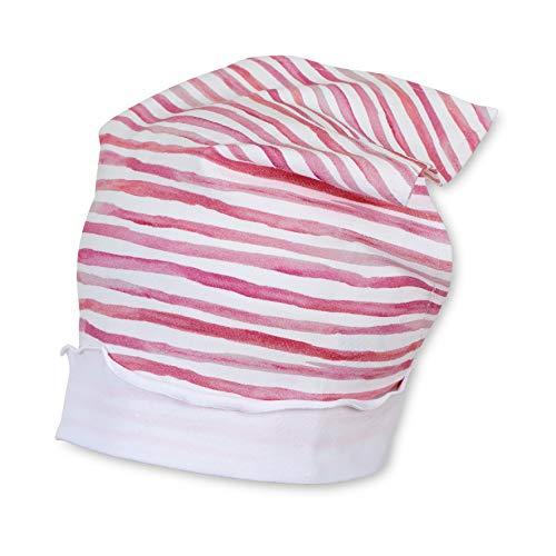 Sterntaler Kopftuch für Mädchen mit Streifenmuster, Alter: 12-18 Monate, Größe: 49, Rosa (Orchidee)