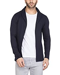 Tinted Mens Open Shawl Cotton Blend Cardigan