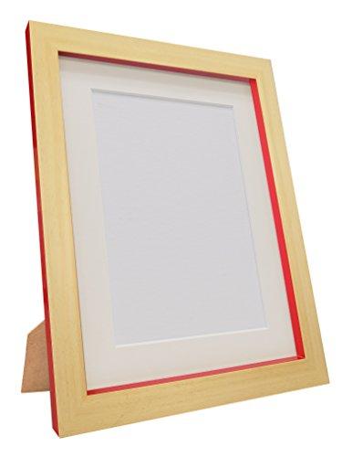 FRAMES BY POST MAGNUSBEEREDWITHIVOMTA3A4 Cornice portafoto Magnus, Plastica Riciclata, Faggio/Rosso, A3, Image Size A4