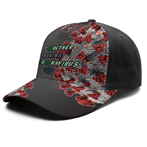 Coro-navirus CO-VID-19 Printed Baseball Hat for Mens Snapback Sun Stylish Fashion Unisex Hats