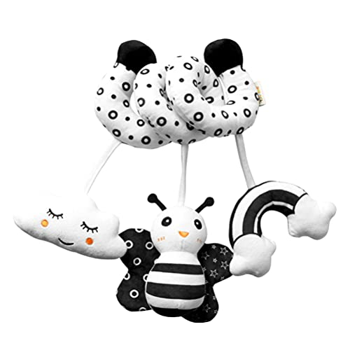 NUOBESTY Baby Crib Pram Hanging Toys Cute Black White Bee Animal Stroller Car Seat Toy Hanging Rattles for Newborn Toddlers Bee Party Favor