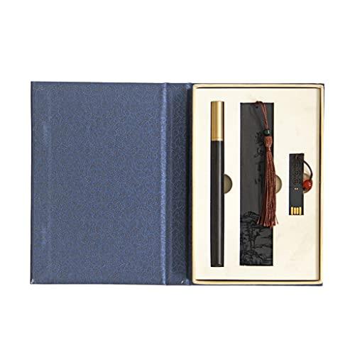 Ixkbiced Juego de bolígrafos de Firma de Madera clásica Kit de bolígrafos de Firma de Negocios Vintage con Marcador de Madera Disco en U Bolígrafo de Escritura de caligrafía