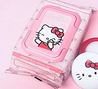 The Crème Shop Korean Cute Gentle and Fresh Advanced Scented Make Up Removal The Crème Shop x Sanrio 20 Pre Wet Towelettes (Hello Kitty)