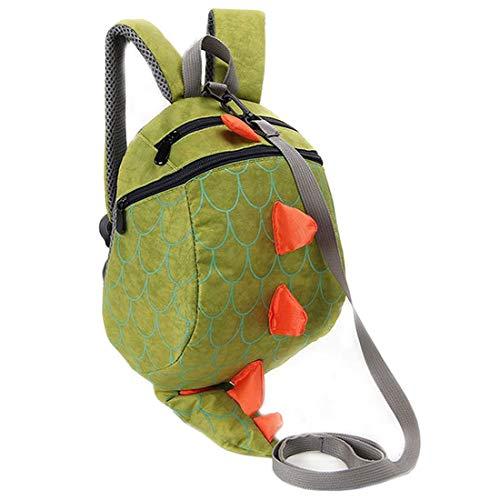 Kinder Rucksäcke Kleinkind Schule Taschen Dinosaurier Kinder Daypacks Jungen Mädchen Anti verloren (Grün)