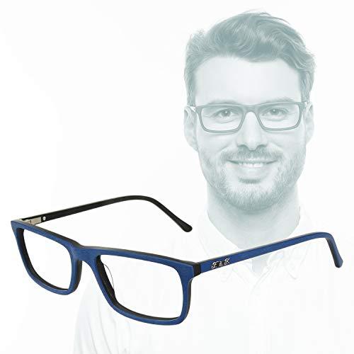 Edison & King 7th Day: Gli Occhiali da Lettura da Lavoro con Lenti Premium incl. Protezione Luce Blu (Blu, 2,50 dpt)