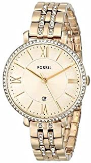 Fossil Women's ES3547 Jacqueline Three-Hand Date Stainless Steel Watch - Gold-Tone