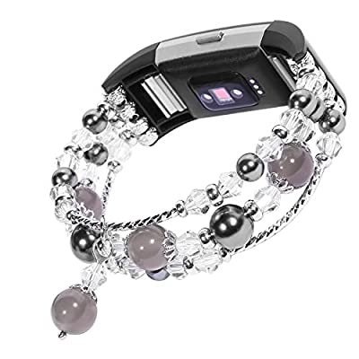 For Fitbit Charge 2 Bands, Imymax Replacement Dressy Elastic Handmade Bracelet/Wrist band for Fitbit Charge hr 2 Smart Watch