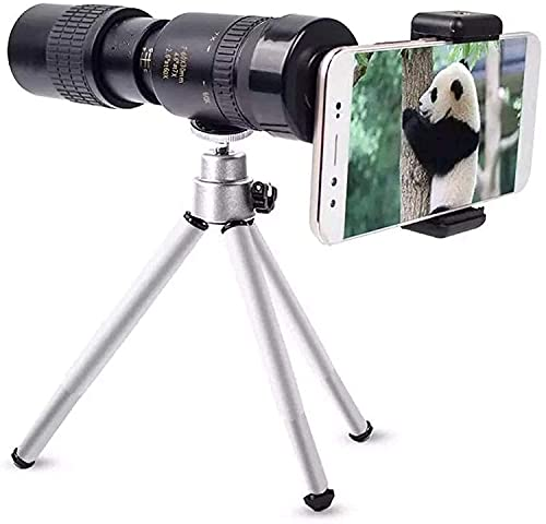 ZHZHUANG 10-300X 40Mm Super Telephoto Zoom Monocular Telescope Portable for All Kind Smartphones for Camping Sports