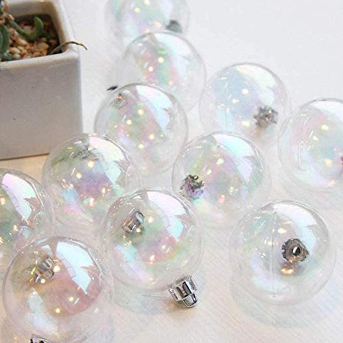 WANGIRL Bola de Navidad 4-8Cm Bola de Decoración de Árbol de Navidad Bola Colgante de Acrílico Colgante de Joyería Colgante Bola Transparente Colorida Burbuja (Color : 6CM)