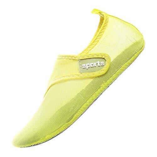 CHENC Barefoot Beach Nadar El Salto Zapatos De Yoga Elástico Calcetines Piscina De Buceo (Color : Yellow)