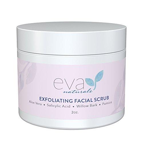 Eva Naturals - Exfoliating Facial Scrub - Gesichtspeeling Hilft bei der Reduzierung von Akne, Poren, Mitessern, entfernt tote Hautzellen – 60 ml.