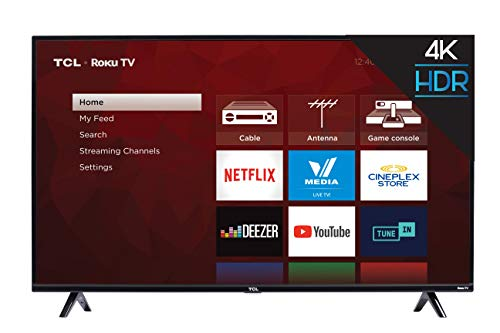 TCL 50S425-CA 4K Ultra HD Smart LED Television (2019), 50'
