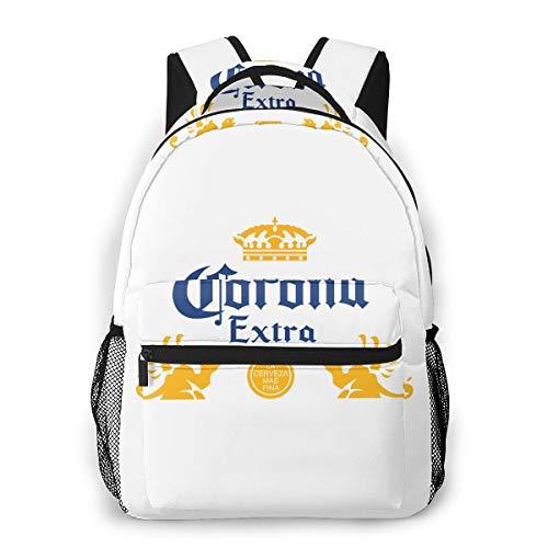 Schöner Schmetterlings-Mädchen-Laptoprucksack für Herren, lässig, leicht, Outdoor-Sport-Rucksack, - Corona Extra Bier - Größe: Einheitsgröße
