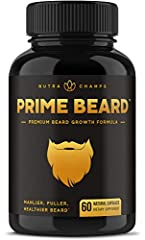 ★ MANLIER, FULLER, HEALTHIER HAIR - You've taken the first step towards irresistibly luscious facial flow. We're on your side and Prime Beard is just what you need to achieve the full, healthy and manly beard they'll remember you for. Beard up, broth...