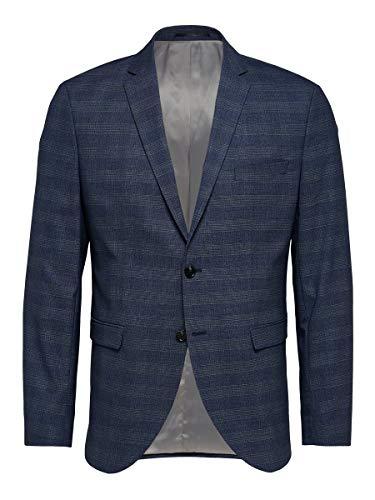 SELECTED HOMME Slhslim-mylobill Blue Check BLZ B Noos Blazer, Profundidades Azules, 58 para Hombre