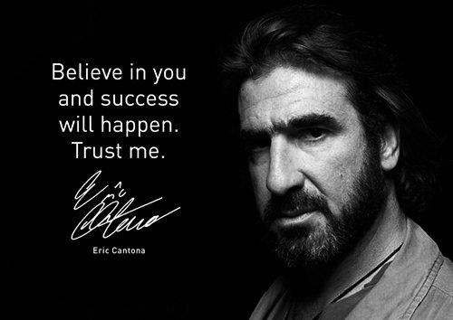 Motivational–Eric Cantona 16–A4–Fußball Legende–Inspirierende–Druck–Bild