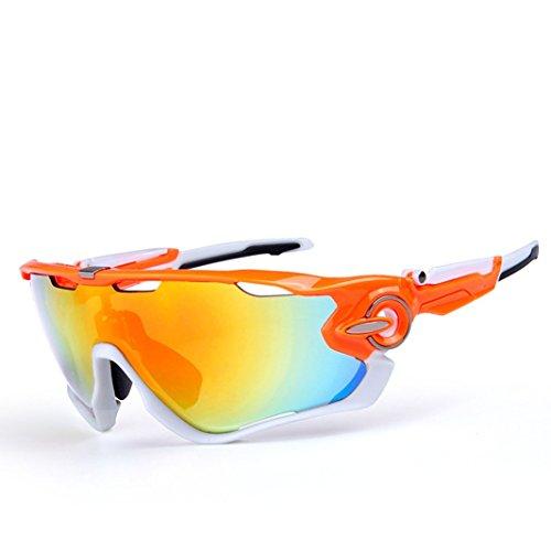 OPEL-R Conducción al aire libre polarizado deporte ocio material playa gafas de sol/gafas de gafas/PC, contiene cinco variedad de lentes de decoración , 9subsection