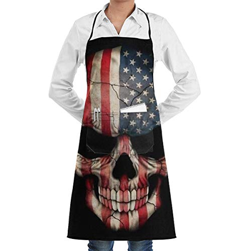 alice-shop Grembiuli da Cucina Teschio per Chef o Cameriere con 1 Tasca Cucina Divertente Cucina Artigianato Artigianato Ristorante Facendo Grembiule Grembiule Moda